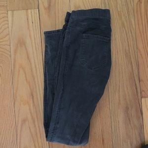 H&M Gray Jeggings Jean Leggings Women's Size 8